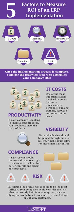 Infographic ROI of an ERP Implementation