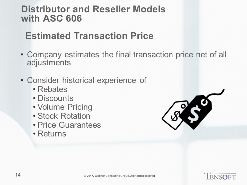 Distributor and Reseller Models with ASC 606