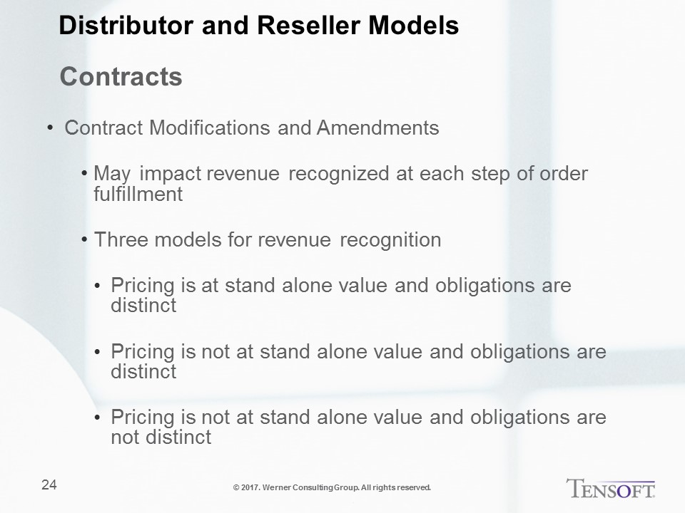 ASC 606 -Modifications and Amendments to Contracts