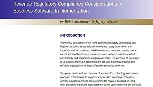 Revenue Regulatory Compliance Whitepaper