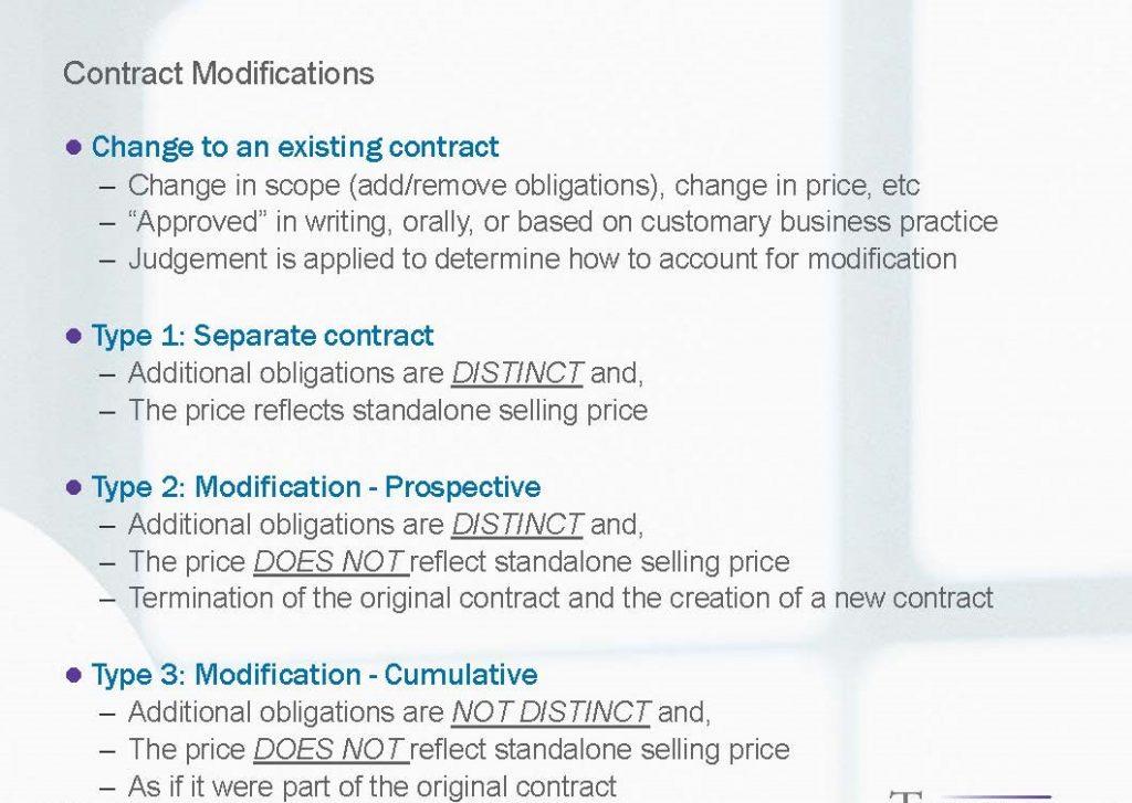 ASC 606 contract modifications